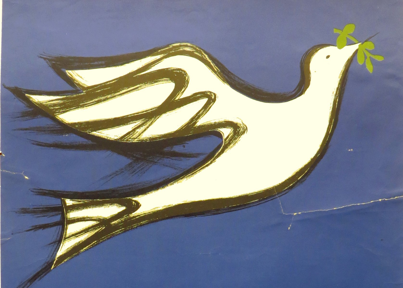 Image of Dove with olive branch, Poster, Student Mobilization Committee to End the War in Vietnam, 1970 [cropped]