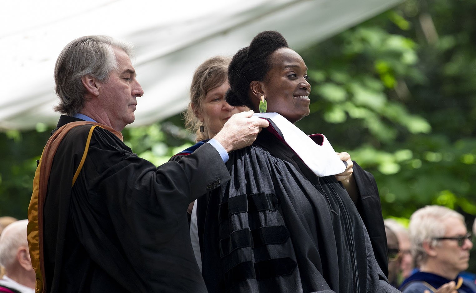 Honorary Degree recipient being honored at commencement