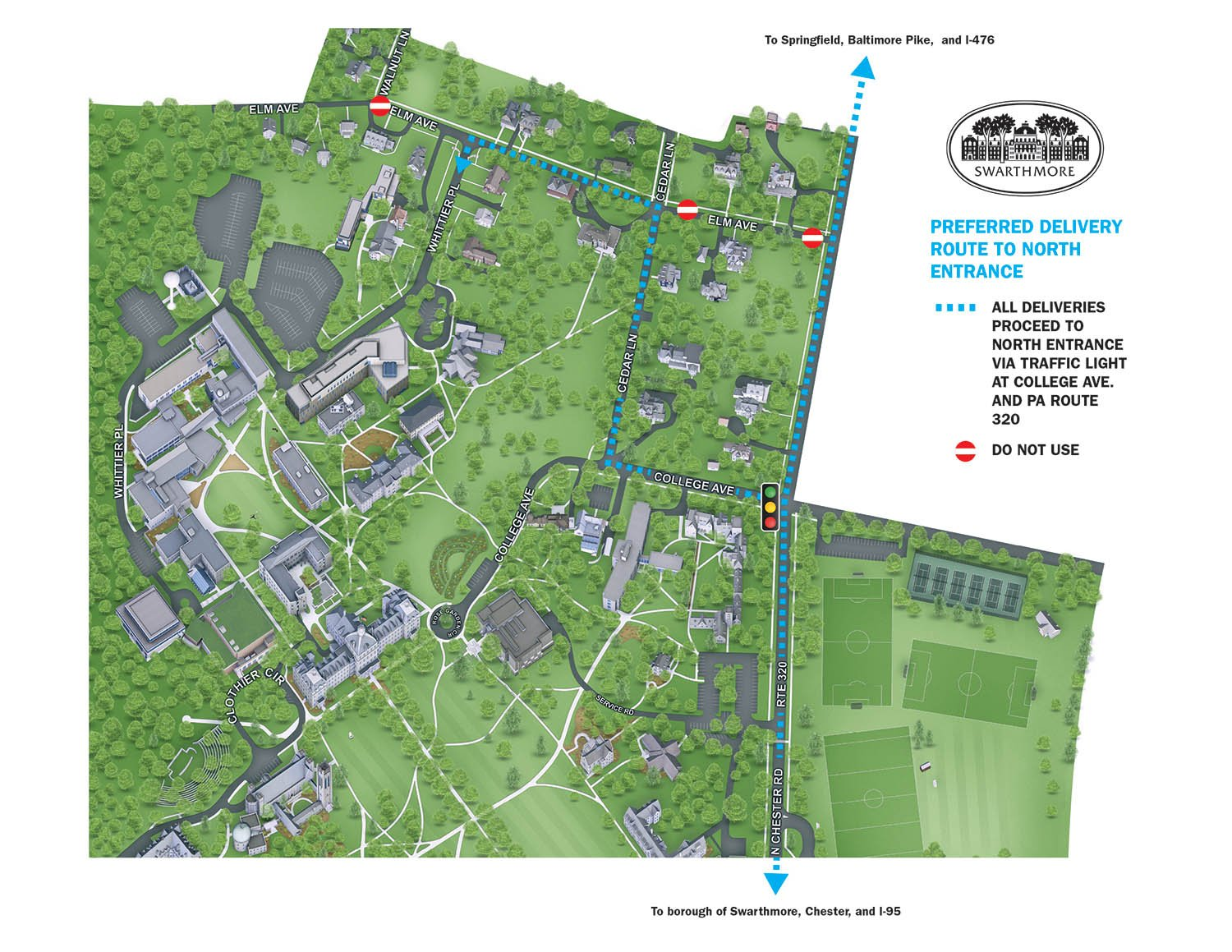 Swarthmore Campus Map For Suppliers :: Purchasing Office :: Swarthmore College
