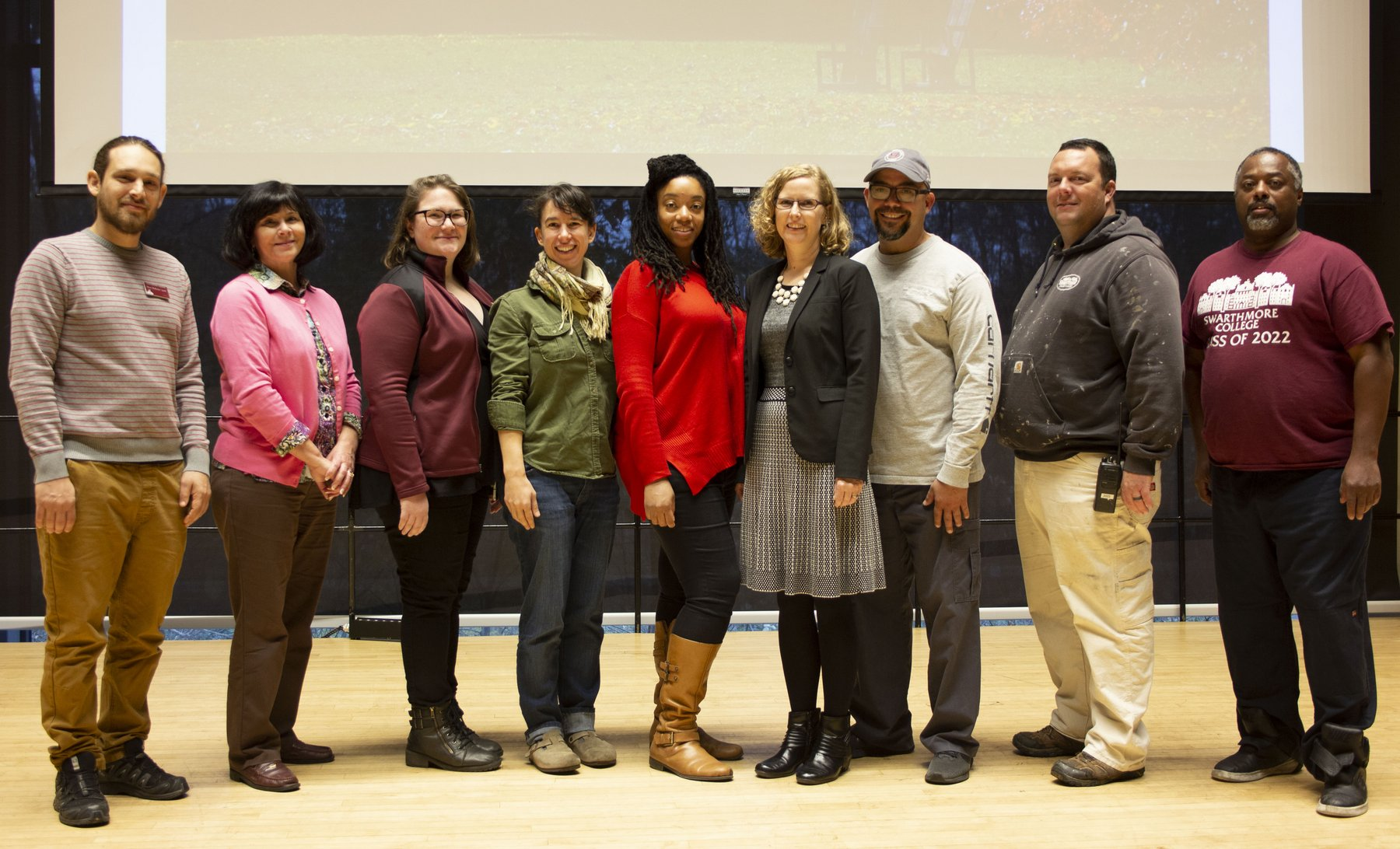 staff advisory council members in Lang Music Hall