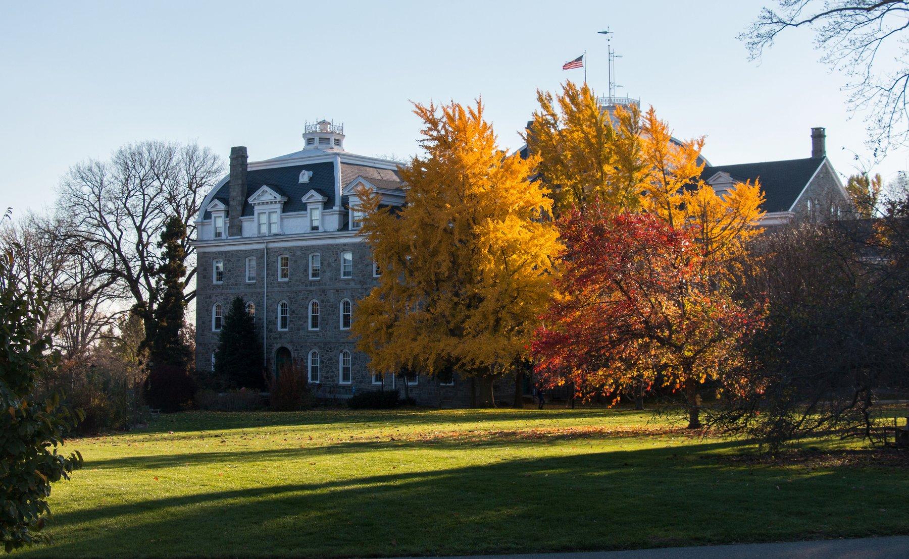 Fall foliage on Swarthmore campus